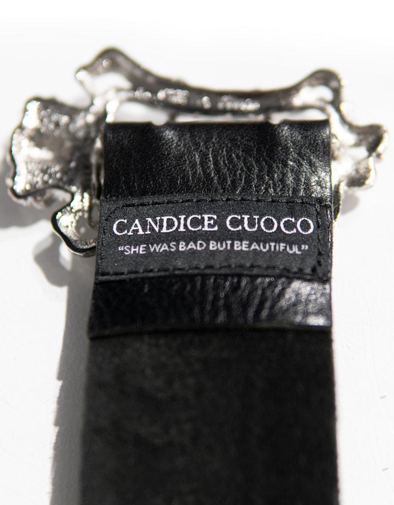 CANDICE CUOCO's ADELASIA Art Nouveau Leather Belt - Back